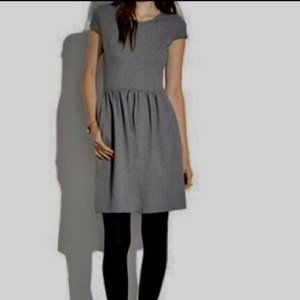 MADEWELL Ponte Screenplay Dress Charcoal Gray M